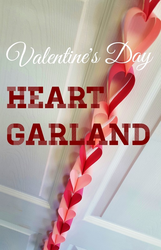 Easy paper garland made with strips of paper and a stapler! Perfect craft activity or art decorating project for kids this Valentines Day. Would also by a great art project for those classroom parties!