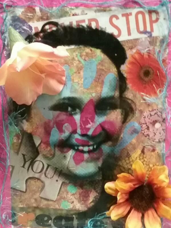 Mixed Media Unique Self Portrait Art Lesson