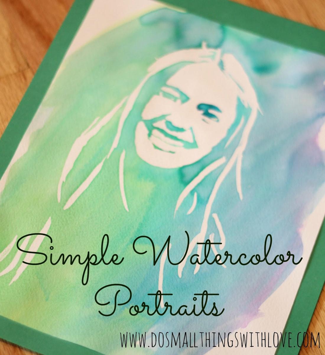 Simple Watercolor Portraits - Self Portrait Art Lessons