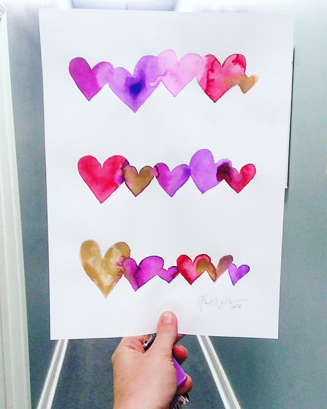 Watercolor Painting Lesson for Valentines Day - perfect for kids AND adults!