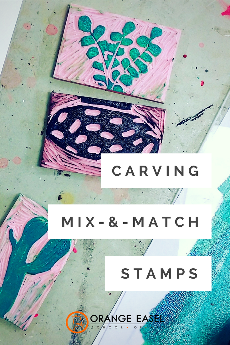Mix & Match Stamp Carving Project for Adults and Teens - Perfect for Spring Art Projects!