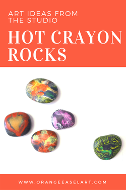 From the Art Studio - Process Art Activity for Kids of all ages - Hot Crayon Rocks