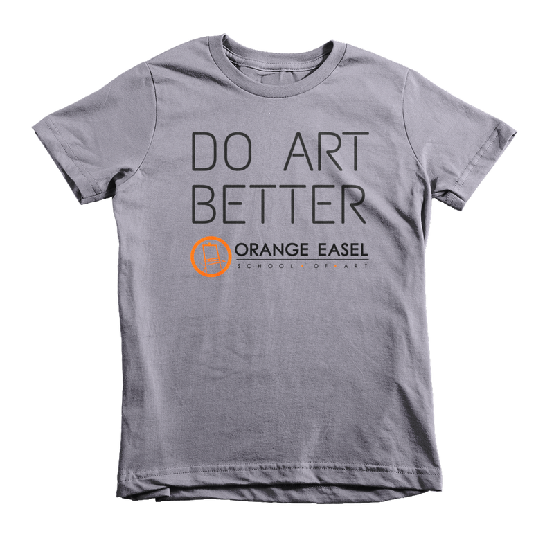 Do Art Better slate tee, OrangeEaselArt.com/shop
