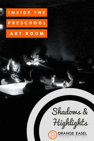 Inside the Preschool Art Room - Learning Contrast by Exploring Shadows and Highlights