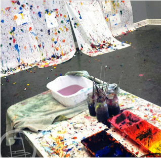 Splat Painting Aftermath