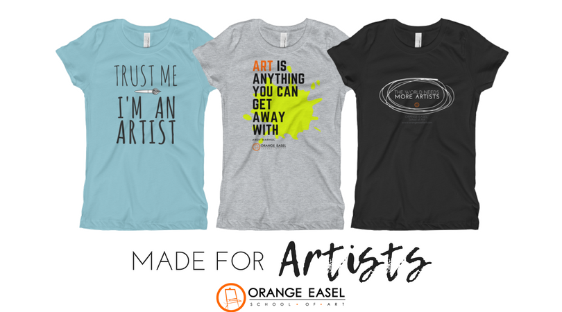 This is our spirit wear.  Clothing make especially for artist of all ages to share how proud we are of our artist status.
