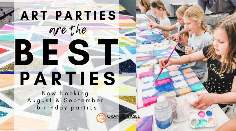 The best kids' birthday parties in all of Kansas City happen here at the art studio every weekend!