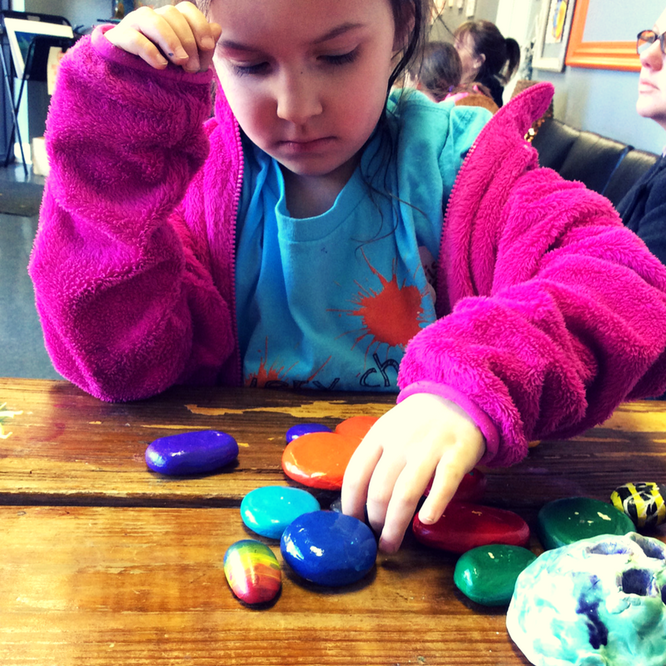 DIY Clay Stacking Rocks -- perfect for open-ended, loose parts play. This homemade toy makes a beautiful gift!