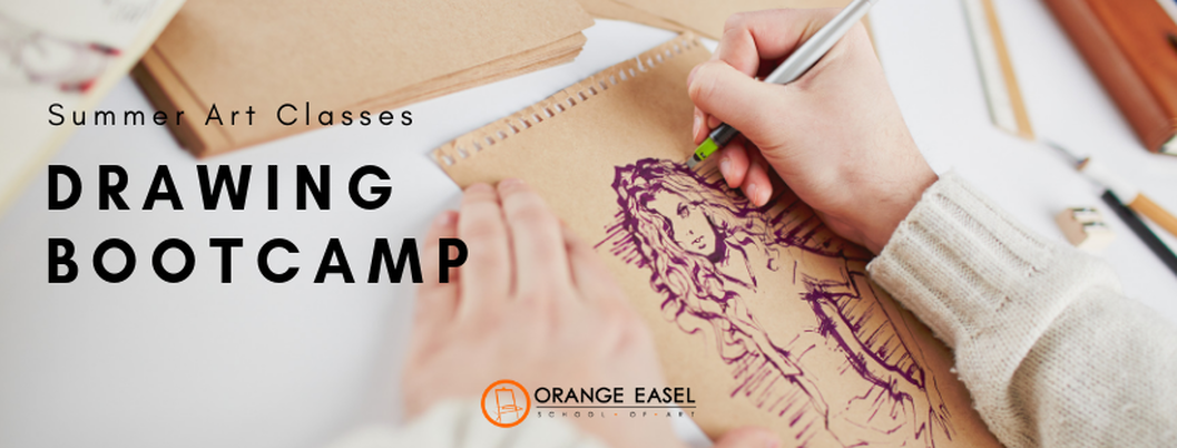 Orange Easel Summer Drawing Classes for Kids -- Get creative Kansas City!