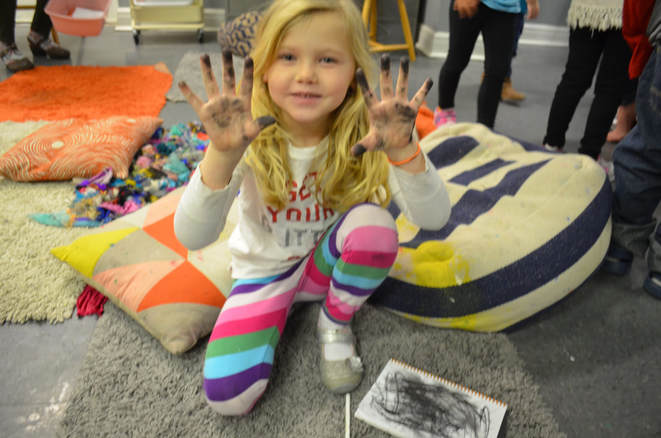 Hands-on, age appropriate learning, for preschoolers in the art room. We explore the concept of contrast (light and dark) through story and playful art making.