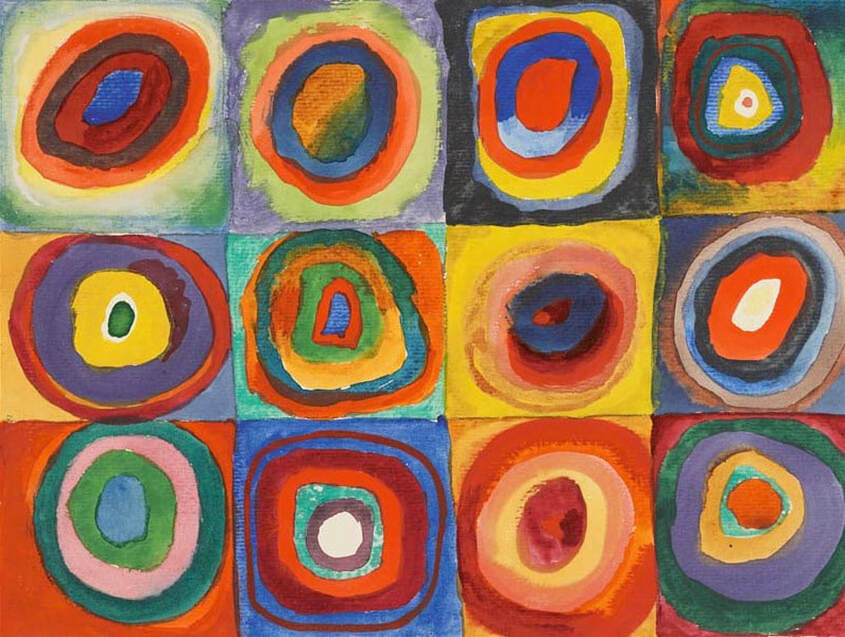 Teaching Art History to Preschoolers can be engaging and full of process art invitations. Check out our favorite art activities inspired by Wassily Kandinsky.