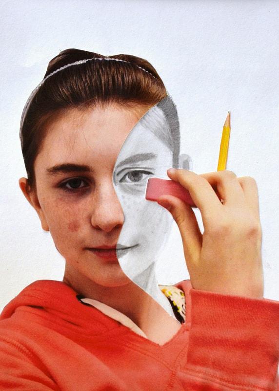 Erase Your Face - Unique Self Portrait Art Lessons