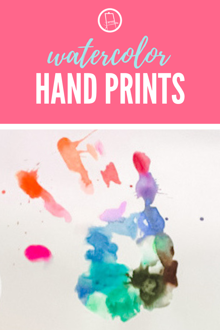 Watercolor Hand Prints are a fresh take on an old favorite. Plus, they are more acceptable to our artists with sensory issues (because it just feels wet...not messy)