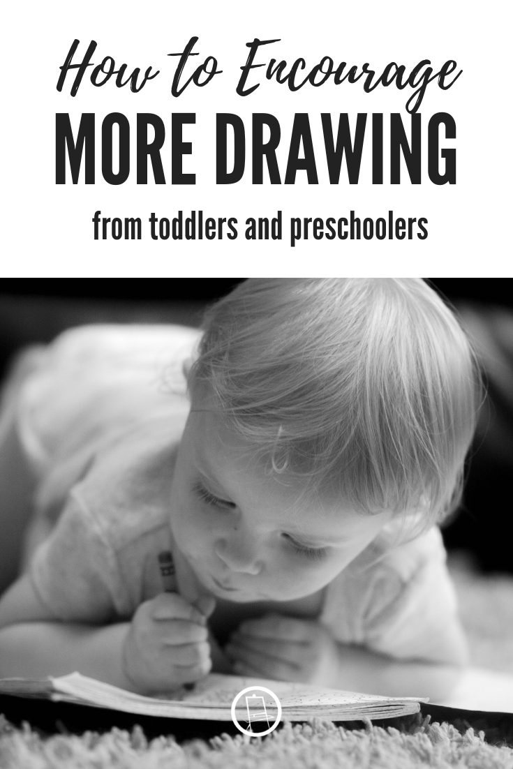 How to encourage more drawing (longer drawing) from toddlers and preschoolers through the use of sound games.