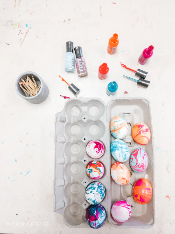 It's not as easy as it looks! What we learned when we tried to marble eggs with nail polish and how we got these stunning results!