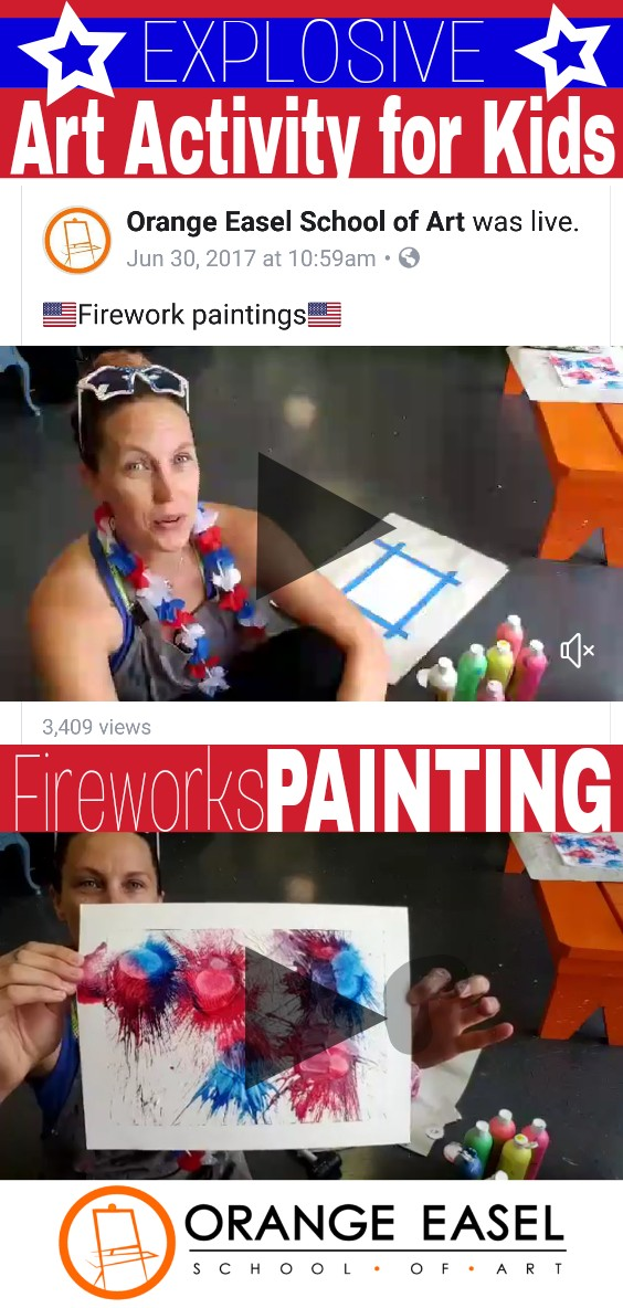 Summer Fireworks Art Activity - 4th of July Fun for the Kids this year!