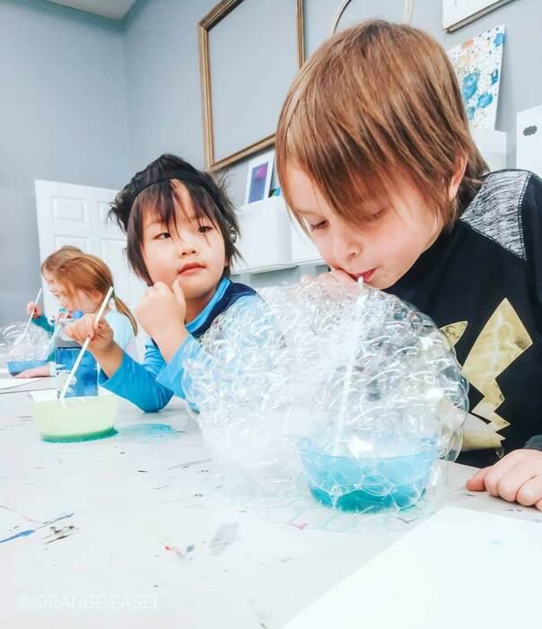 Colorful Bubble Art Activity for Kids