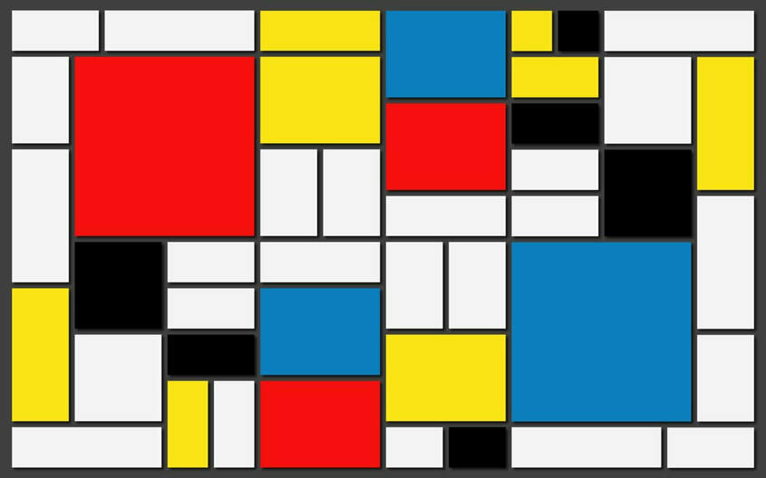 Teaching Art History to Preschoolers can be engaging and full of process art invitations. Check out our favorite art activities inspired by Piet Mondrian.