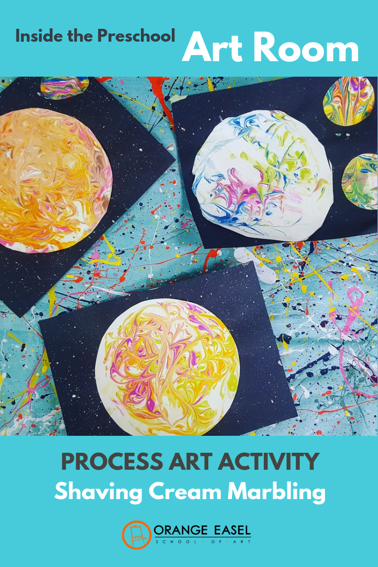 How to use shaving cream and washable watercolors to marble paper