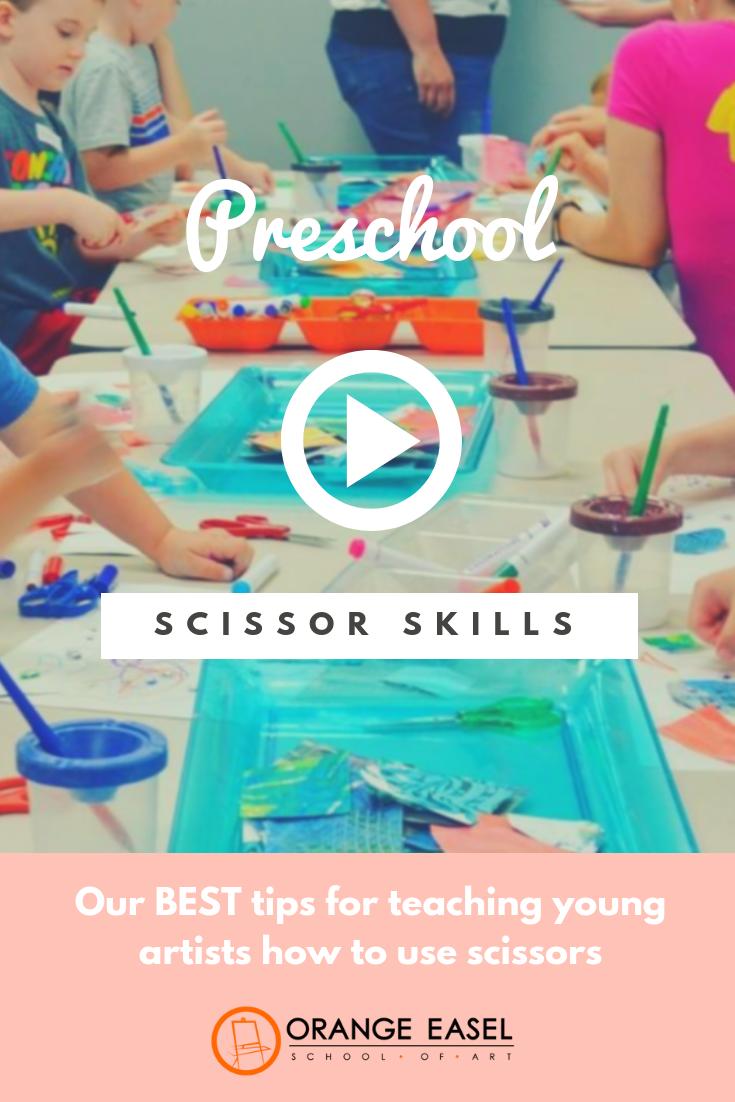Preschool Fine Motor and Scissor Skill Development Tips and Activities from Orange Easel