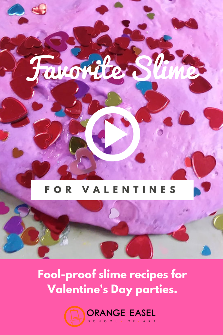 Easy slime recipes for valentine's day classroom parties -- perfect for the craft activity, science activity, or take-home favor!